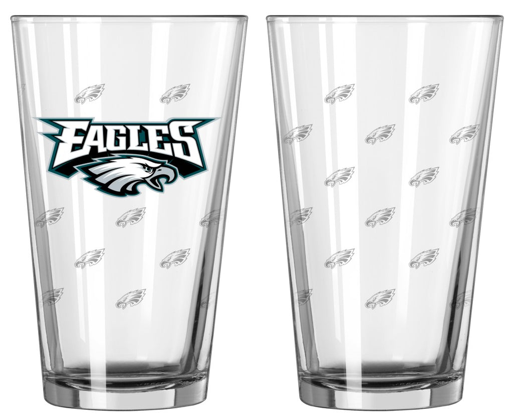 Philadelphia Eagles Satin Etch Pint Glass Set of 2