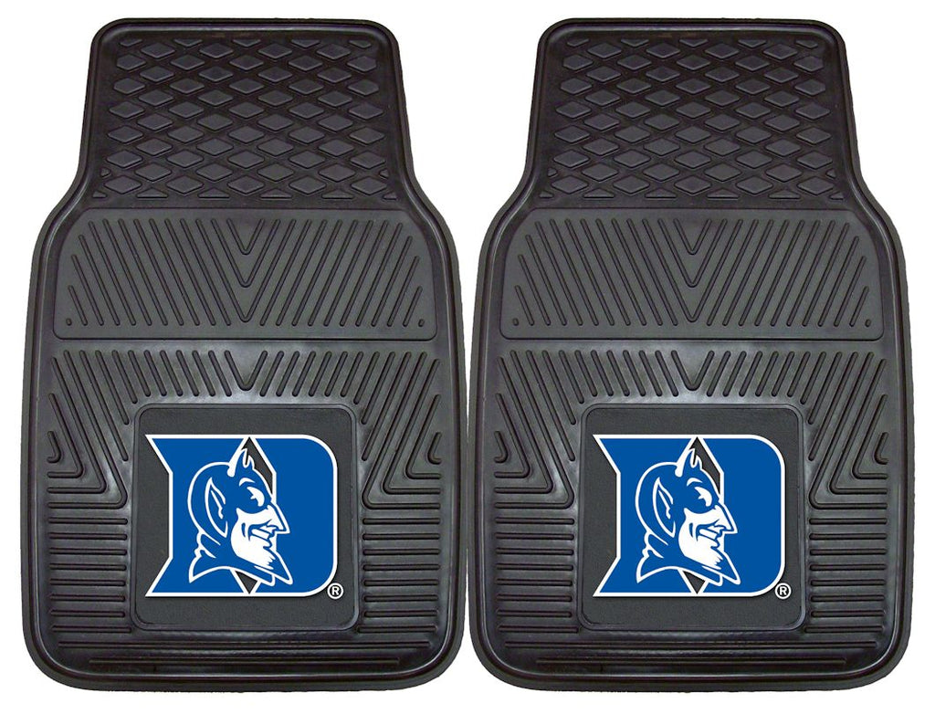 Duke Blue Devils Heavy Duty 2-Piece Vinyl Car Mats