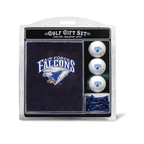 Air Force Academy Embroidered Golf Towel, 3 Golf Ball, and Golf Tee Set