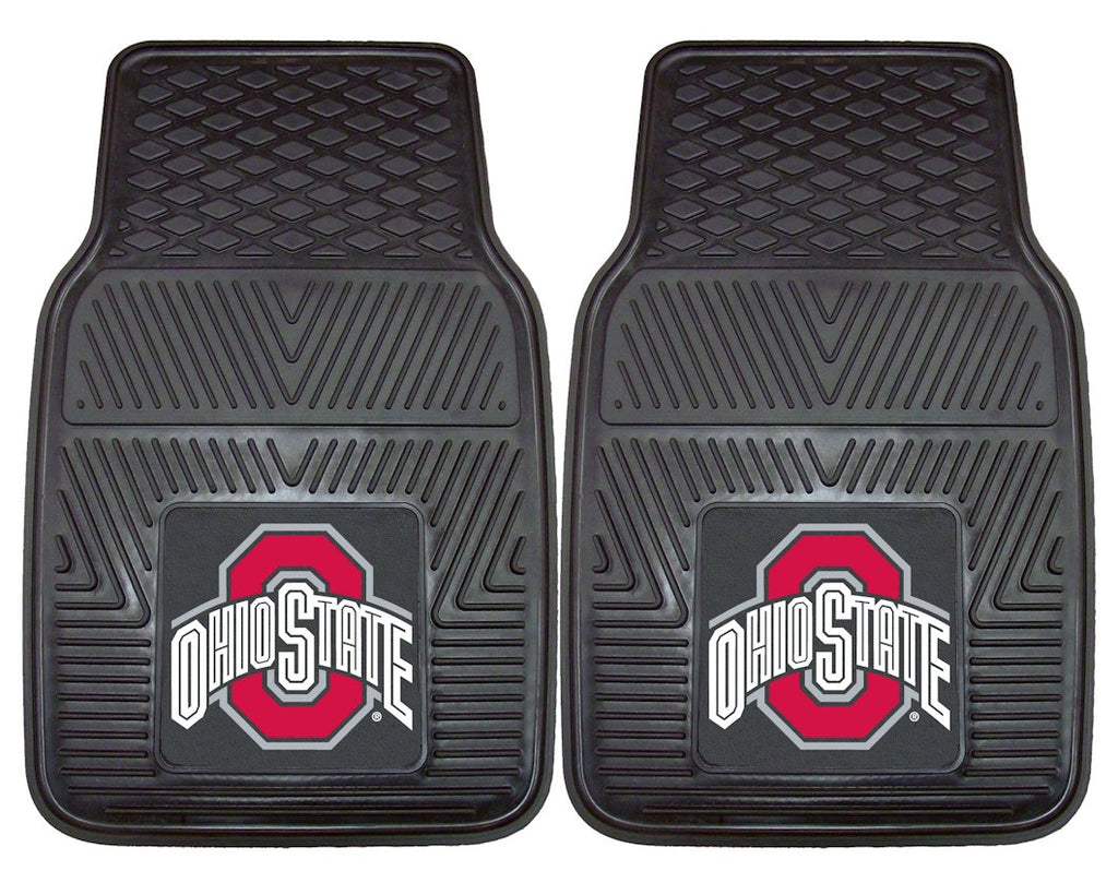 Ohio State Buckeyes Heavy Duty 2-Piece Vinyl Car Mats