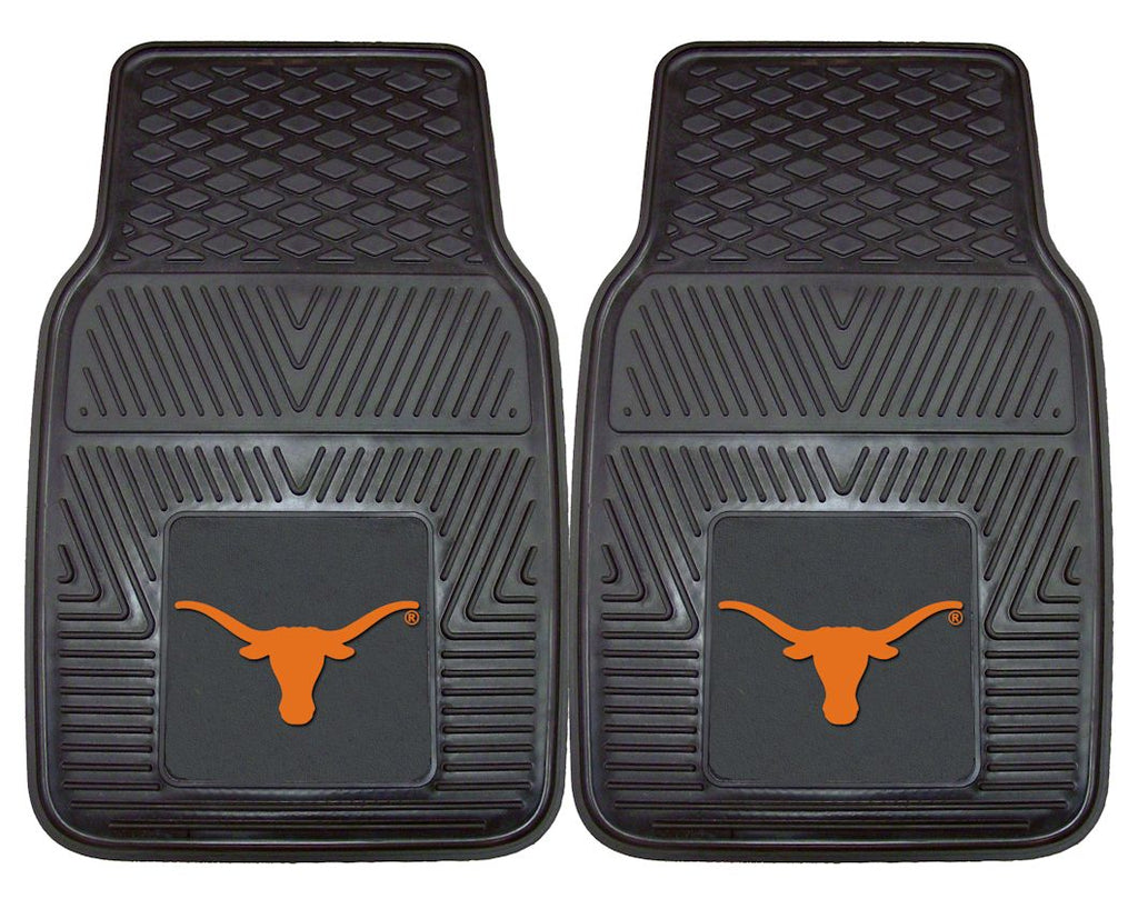 Texas Longhorns Heavy Duty 2-Piece Vinyl Car Mats