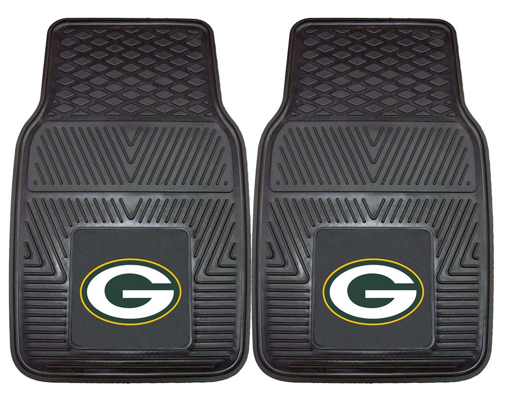 Green Bay Packers Heavy Duty Vinyl Front Seat 2 Piece Car Mat Set