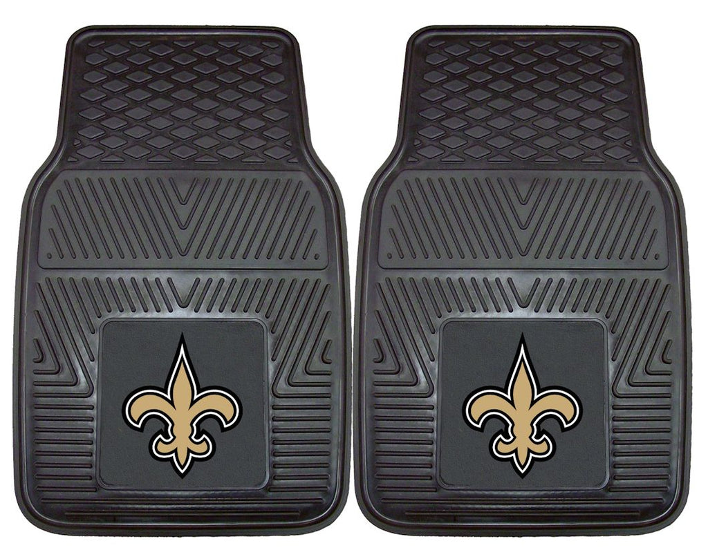 New Orleans Saints Heavy Duty Vinyl Front Seat 2 Piece Car Mat Set