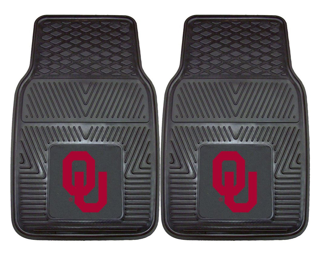 Oklahoma Sooners Heavy Duty 2-Piece Vinyl Car Mats