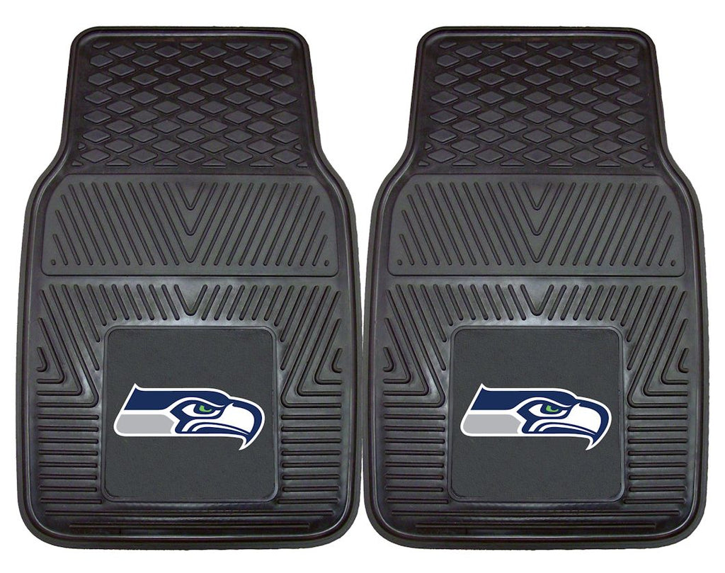 Seattle Seahawks Heavy Duty Vinyl Front Seat 2 Piece Car Mat Set