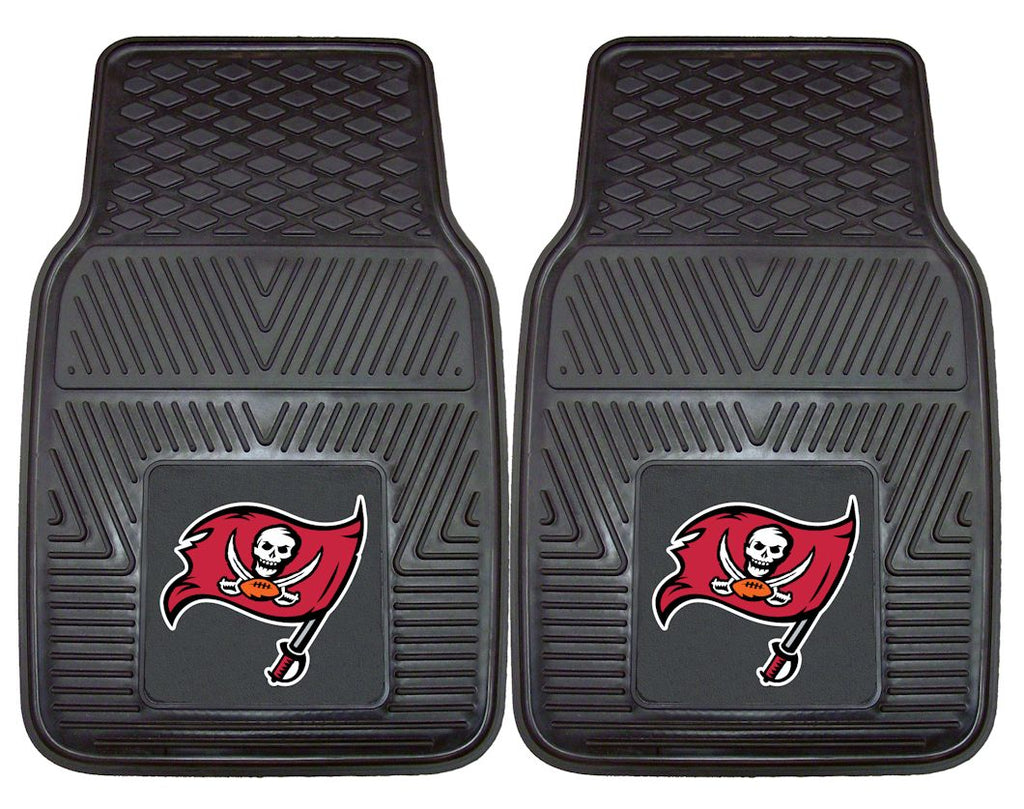 Tampa Bay Buccaneers Heavy Duty Vinyl Front Seat 2 Piece Car Mat Set