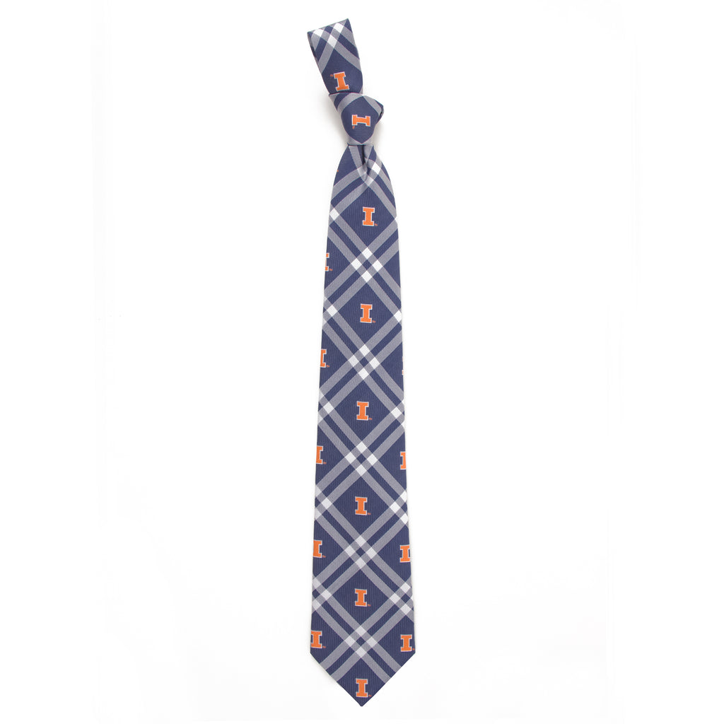 Illinois Fighting Illini Rhodes Style Neck Tie