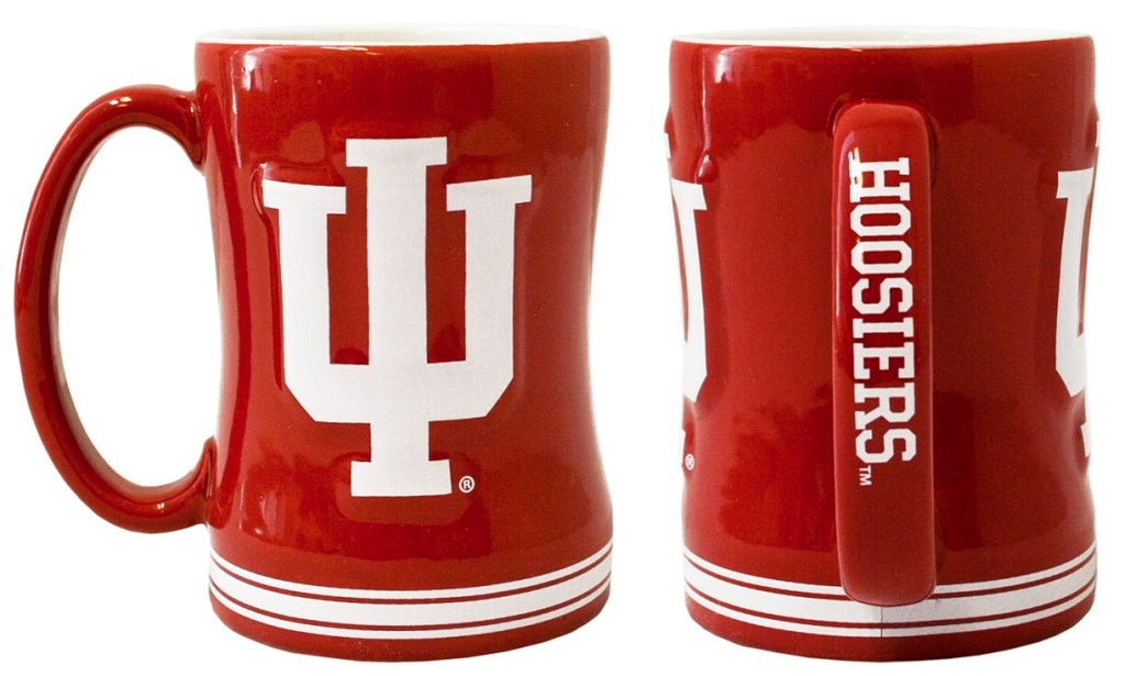 Indiana Hoosiers 3D Coffee Mug - 14oz Sculpted Relief