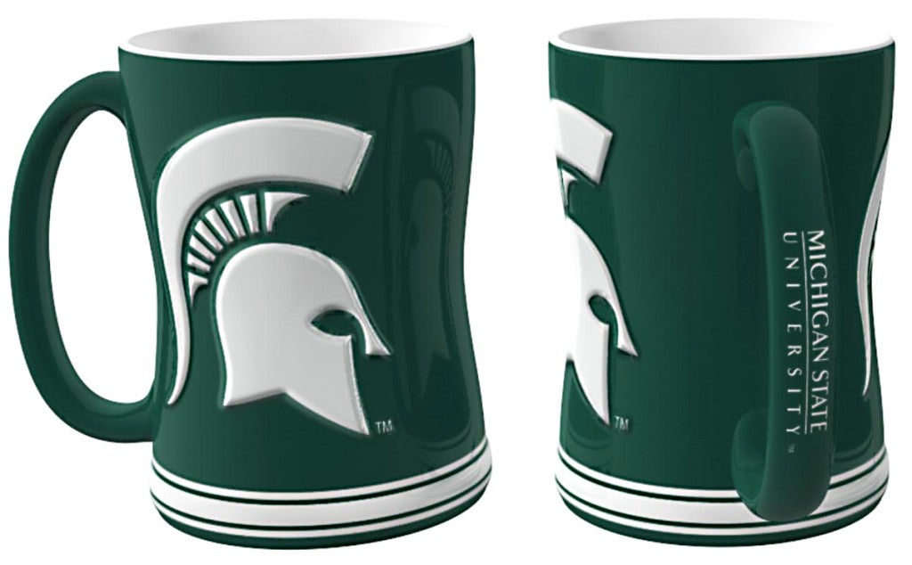 Michigan State Spartans 3D Coffee Mug - 14oz Sculpted Relief