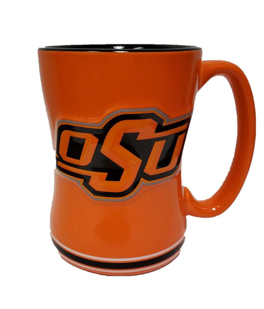 Oklahoma State Cowboys 3D Coffee Mug - 14oz Sculpted Relief