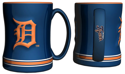 Detroit Tigers 3D Coffee Mug - 14oz Sculpted Relief - Blue