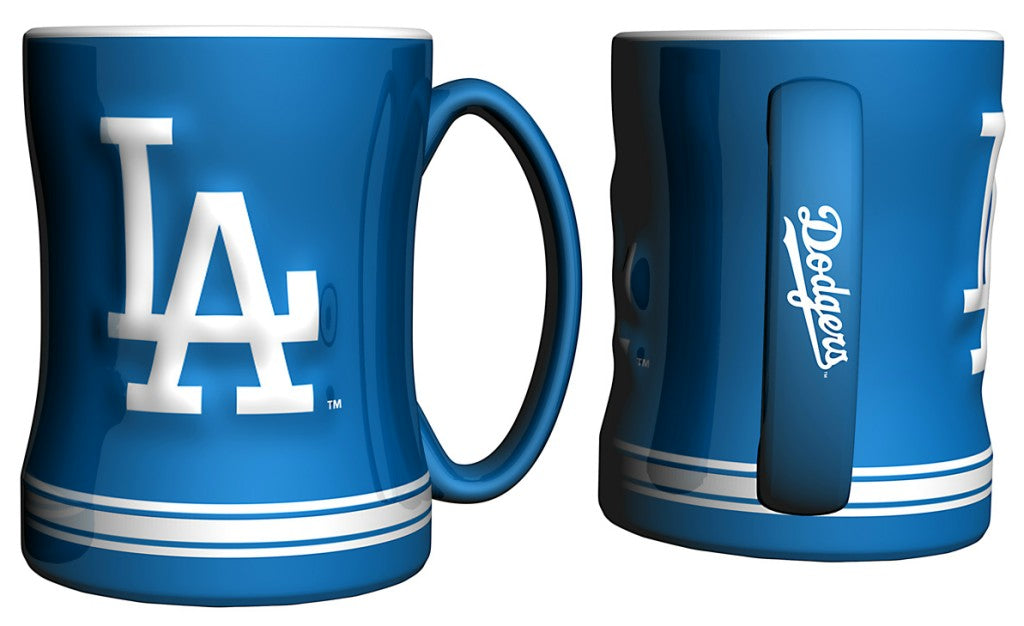Los Angeles Dodgers 3D Coffee Mug - 14oz Sculpted Relief