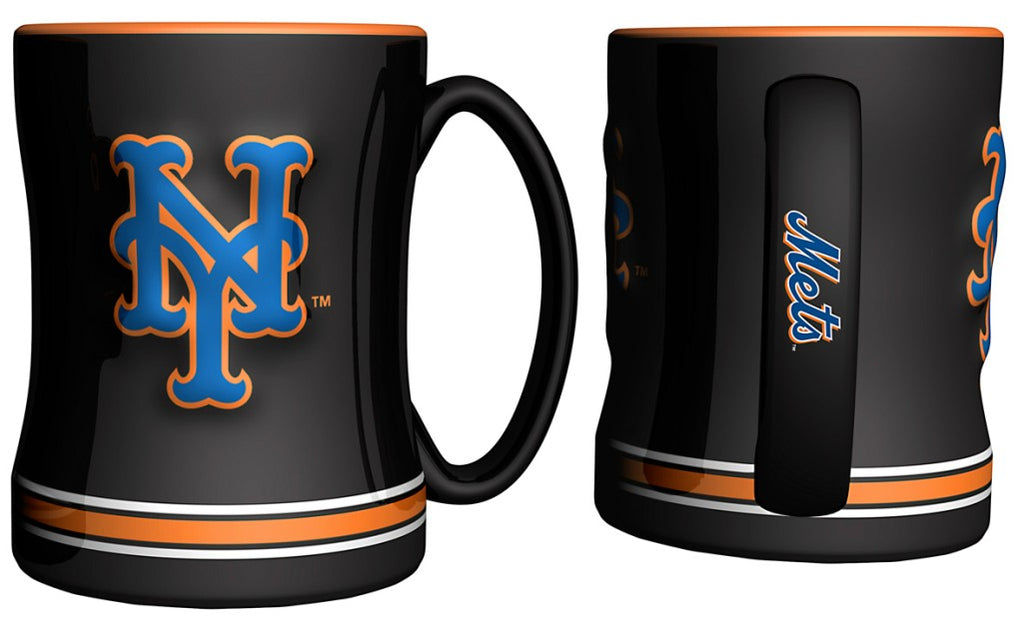 New York Mets 3D Coffee Mug - 14oz Sculpted Relief