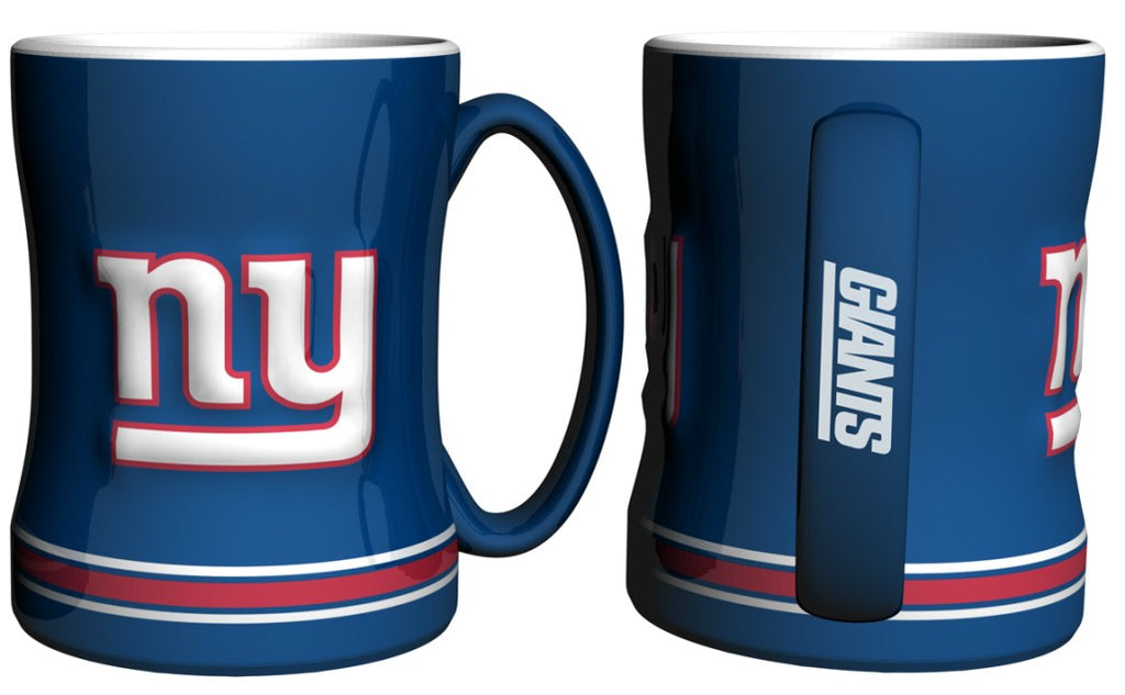 New York Giants 3D Coffee Mug - 14oz Sculpted Relief