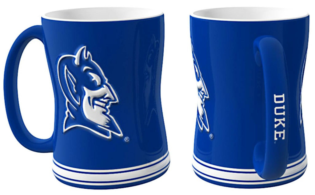 Duke Blue Devils 3D Coffee Mug - 14oz Sculpted Relief