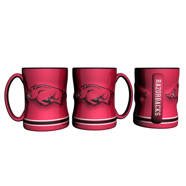 Arkansas Razorbacks 3D Coffee Mug - 14oz Sculpted Relief