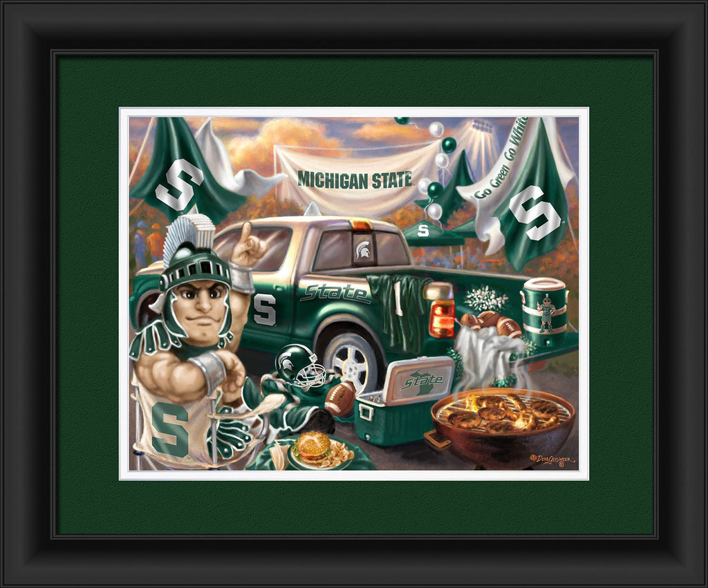 Michigan State Spartans Framed Tailgate Art Print