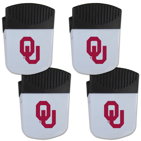 Oklahoma Sooners   Chip Clip Magnet with Bottle Opener 4 pack