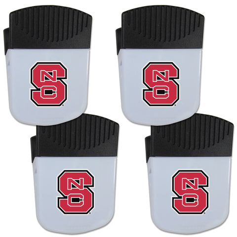 N. Carolina St. Wolfpack Chip Clip Magnet with Bottle Opener, 4 pack