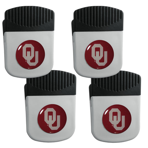 Oklahoma Sooners   Clip Magnet with Bottle Opener 4 pack