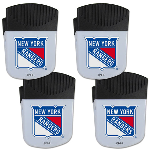 New York Rangers   Chip Clip Magnet with Bottle Opener 4 pack
