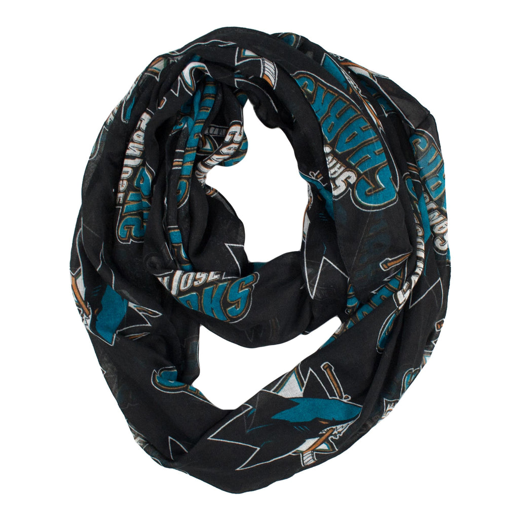 San Jose Sharks Sheer Infinity Scarf