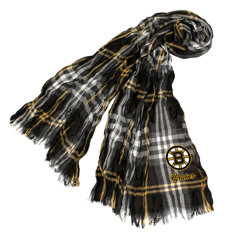 Boston Bruins Crinkle Scarf Plaid - BLMGL