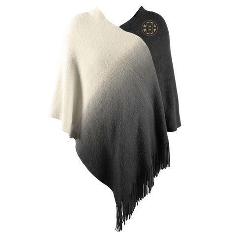 Boston Bruins Dip Dye Poncho - Black
