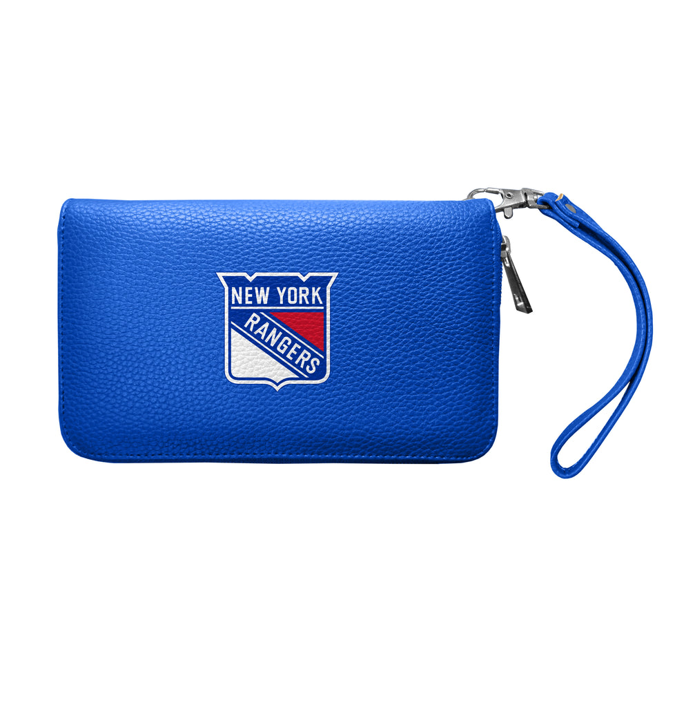 New York Rangers Zip Organizer Wallet Pebble - Royal