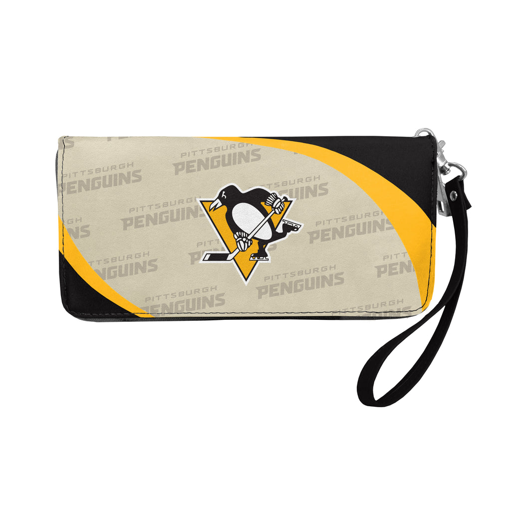 Pittsburgh Penguins Curve Zip Organizer Wallet