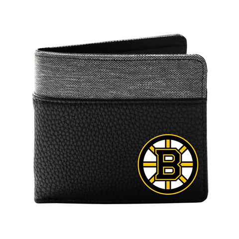 Boston Bruins Pebble Bifold Wallet - Black
