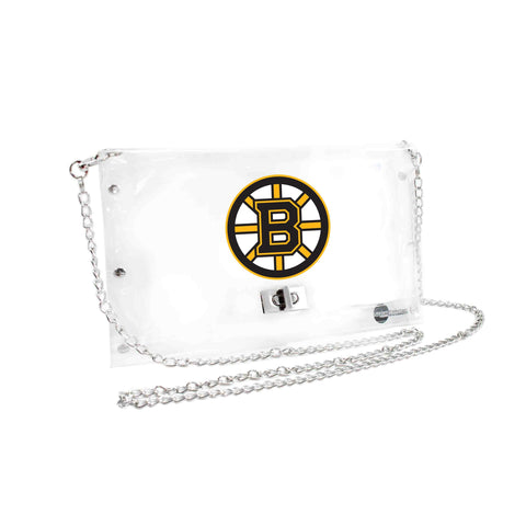 Boston Bruins Clear Envelope Purse