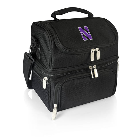 Northwestern Wildcats 'Pranzo' Lunch Tote-Black Digital Print
