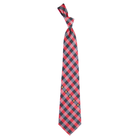 Maryland Terrapins Check Style Neck Tie