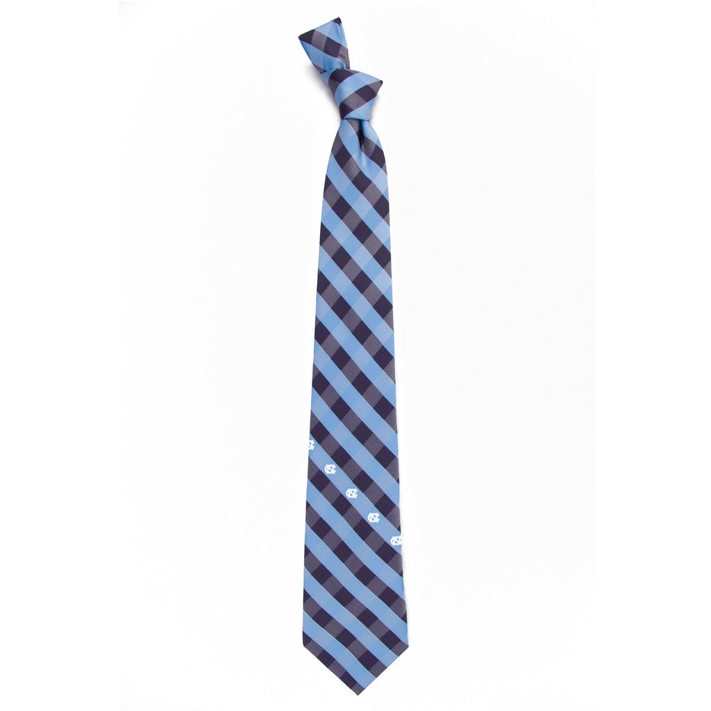 North Carolina Tar Heels Check Style Neck Tie