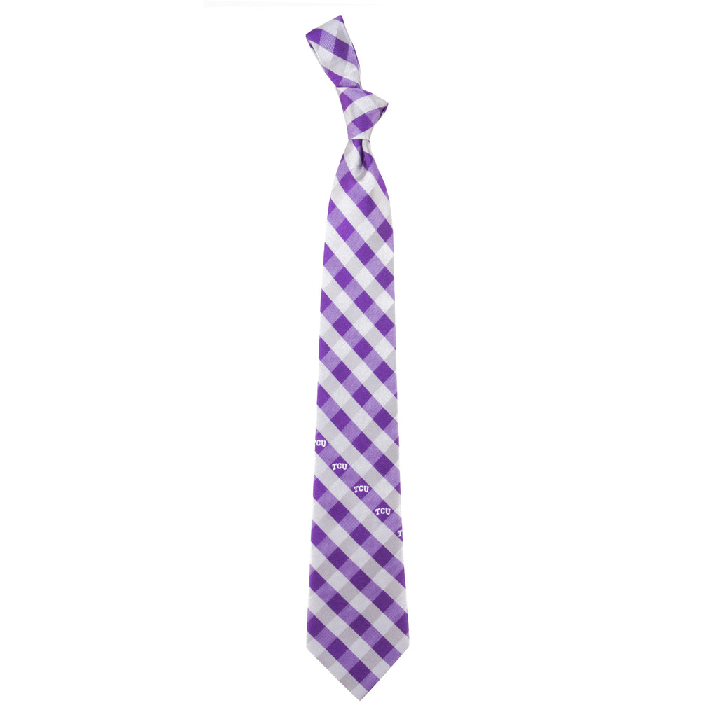 TCU Horned Frogs Check Style Neck Tie