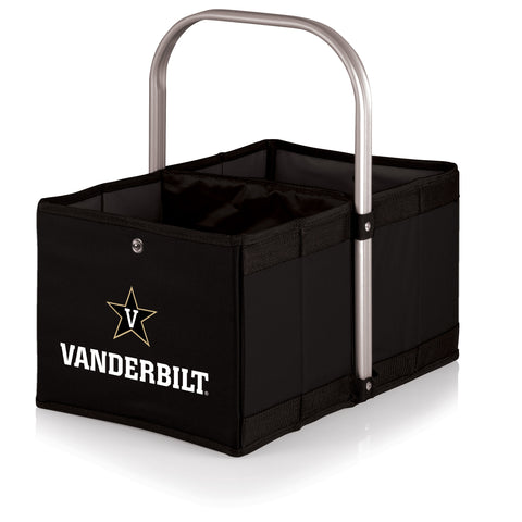 Vanderbilt Commodores 'Urban Basket' Collapsible Tote-Black Digital Print
