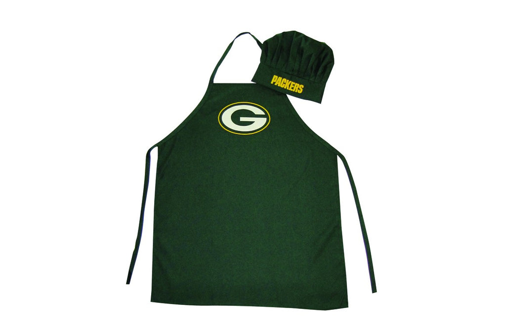 Green Bay Packers Apron and Chef Hat Set