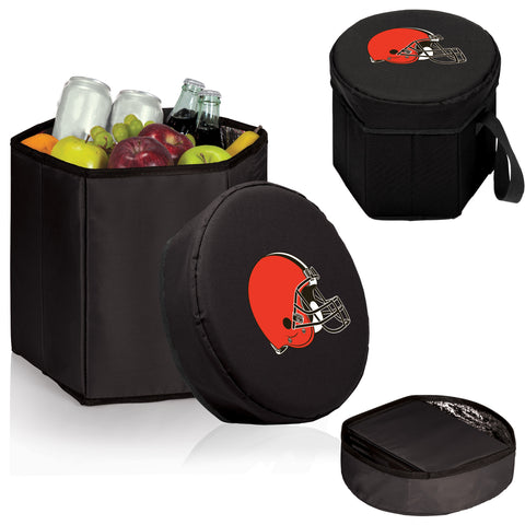 Cleveland Browns 'Bongo' Cooler & Seat-Black Digital Print