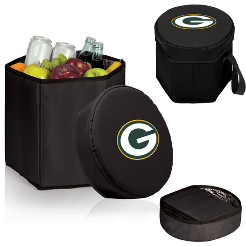 Green Bay Packers 'Bongo' Cooler & Seat-Black Digital Print