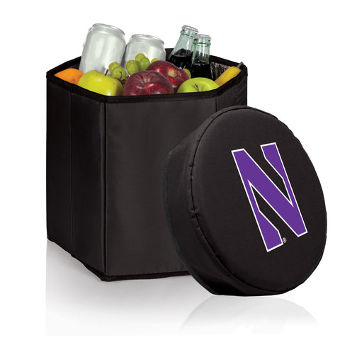 Northwestern Wildcats 'Bongo' Cooler & Seat-Black Digital Print