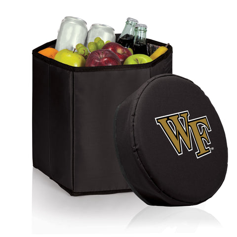Wake Forest Demon Deacons 'Bongo' Cooler & Seat-Black Digital Print