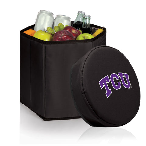 TCU Horned Frogs 'Bongo' Cooler & Seat-Black Digital Print