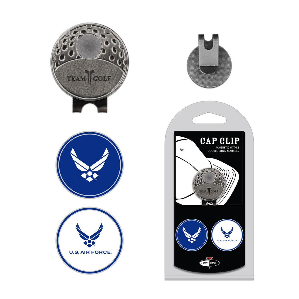 Us Air Force Cap Clip With 2 Golf Ball Markers