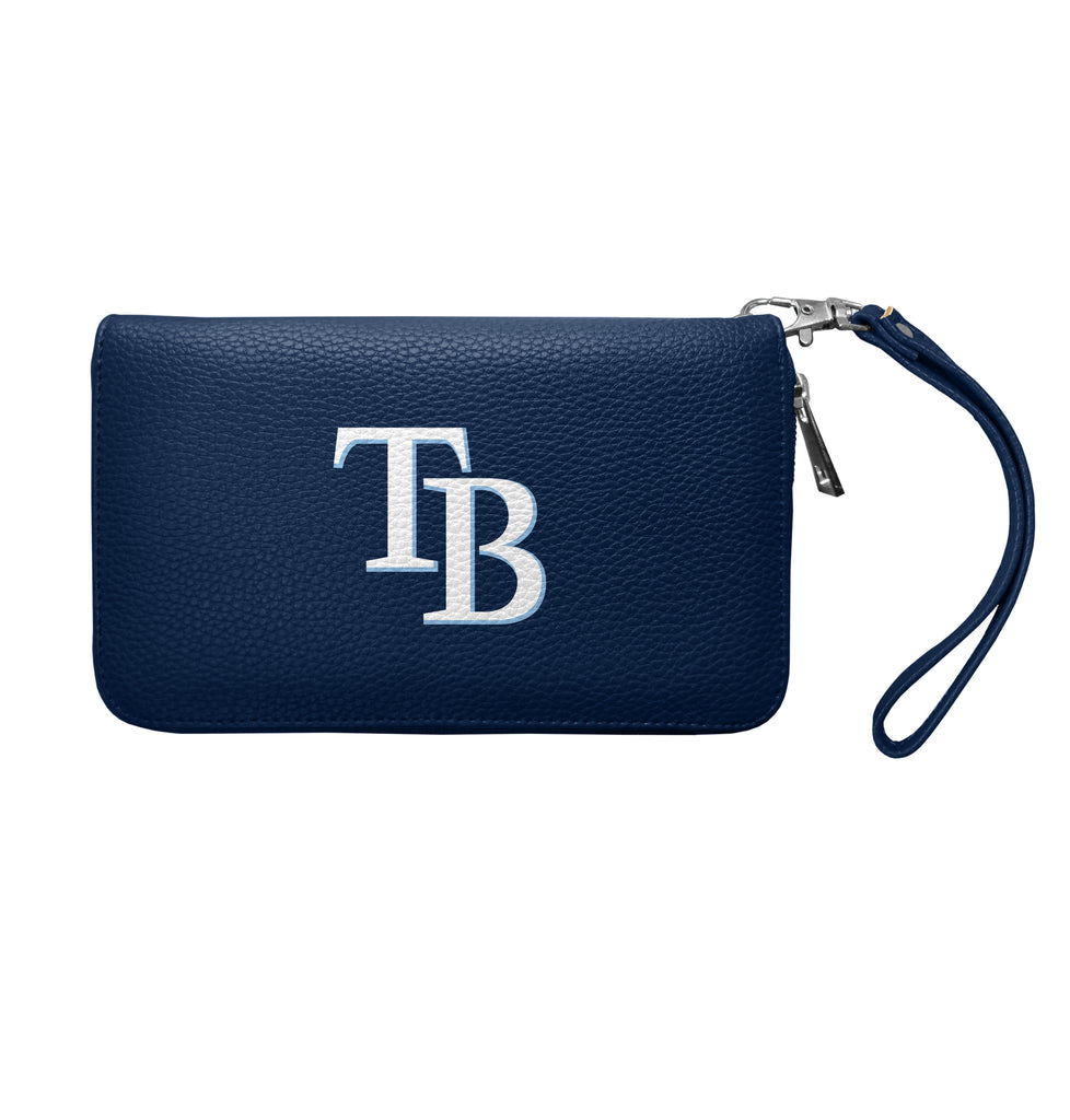 Tampa Bay Rays Zip Organizer Wallet Pebble - NAVY
