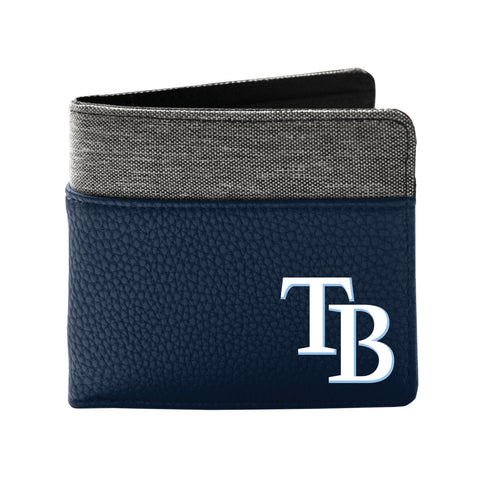 Tampa Bay Rays Pebble Bifold Wallet - NAVY