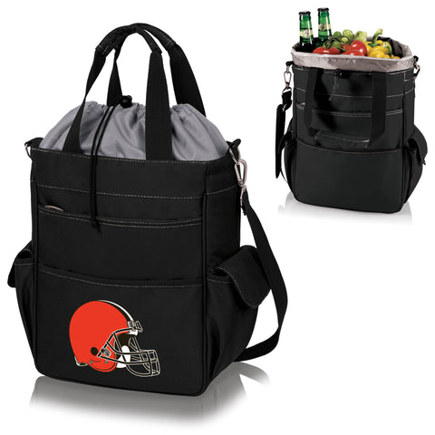 Cleveland Browns 'Activo' Cooler Tote-Black Digital Print