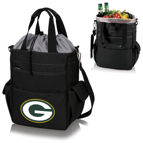 Green Bay Packers 'Activo' Cooler Tote-Black Digital Print