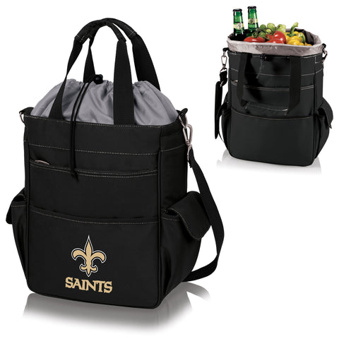 New Orleans Saints 'Activo' Cooler Tote-Black Digital Print