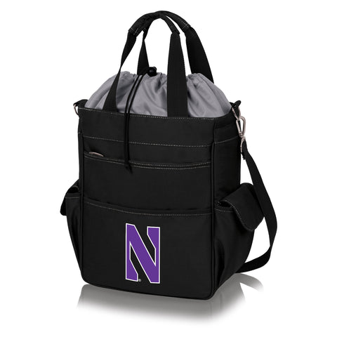 Northwestern Wildcats 'Activo' Cooler Tote-Black Digital Print
